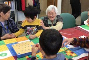 高齢者と保育園児